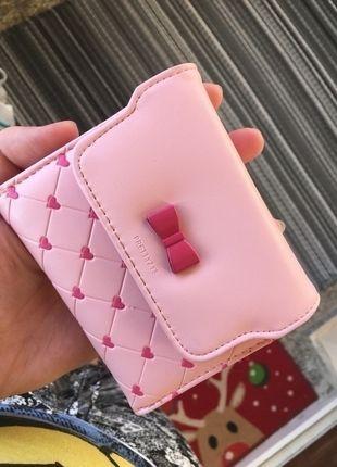 Kup mój przedmiot na #vintedpl http://www.vinted.pl/damskie-torby/portmonetki/14182594-maly-rozowy-portfel-slodki-kokardka-serduszka