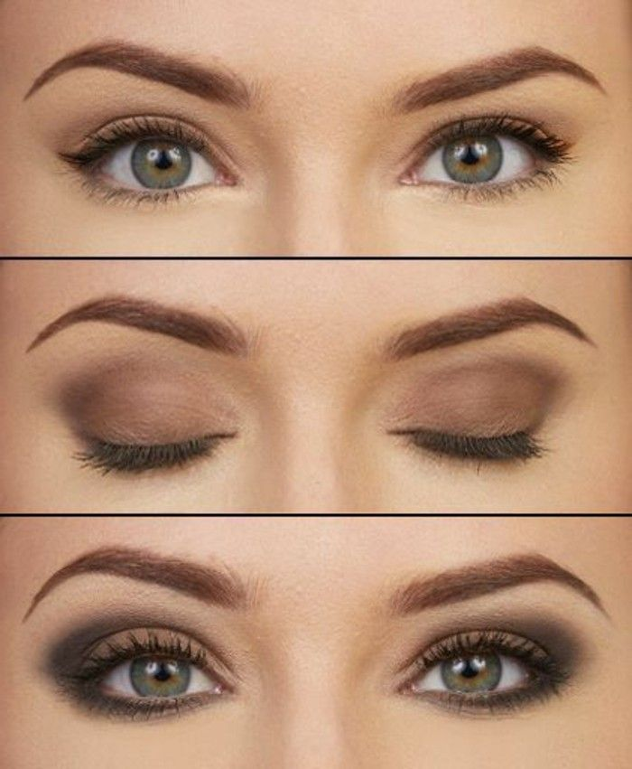 Tutoriel maquillage yeux marrons - Faire couleur marron ...