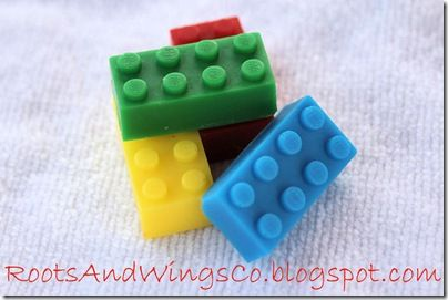 lego soap -seriously cute idea, but making my own mold is just out of the question!