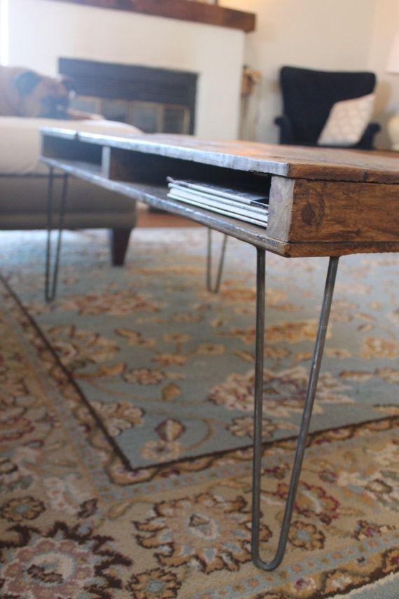The Newton Reclaimed Wood Coffee Table on by theWobblyKnob