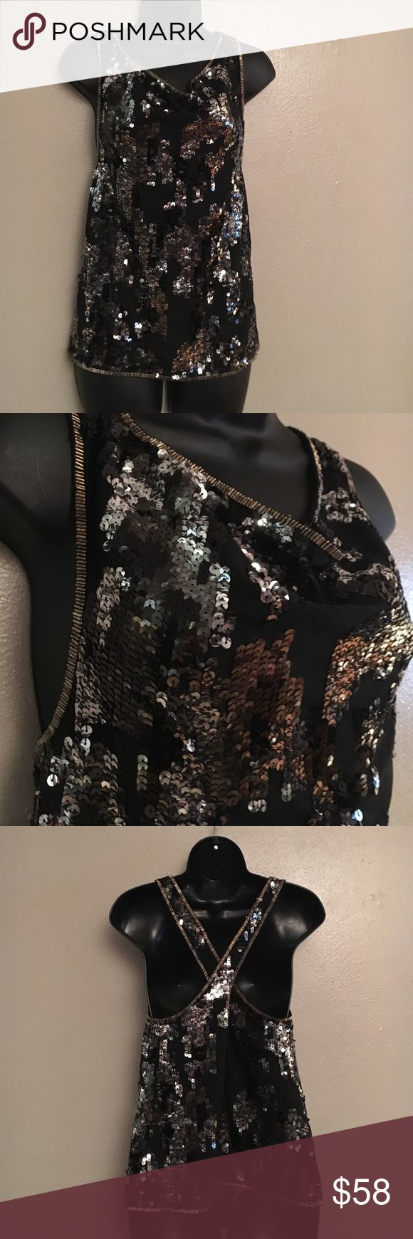 Diesel sequins shirt Diesel sequins shirt-dress to impress. Beautiful sleeveless shirt Diesel Tops Blouses