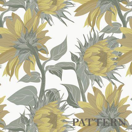 Pattern Sunflower on Behance
