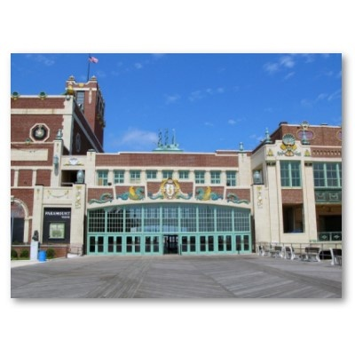 #Jersey #shore #asbury #park #nj #colorful #boardwalk #convention #hall #blue sky #paramount #theatre #theater