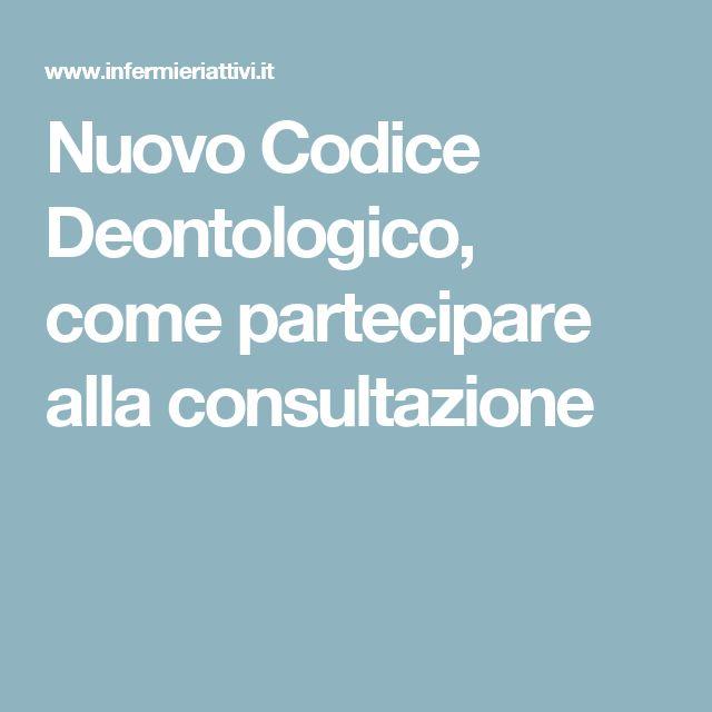 Nuovo Codice Deontologico, come partecipare alla consultazione