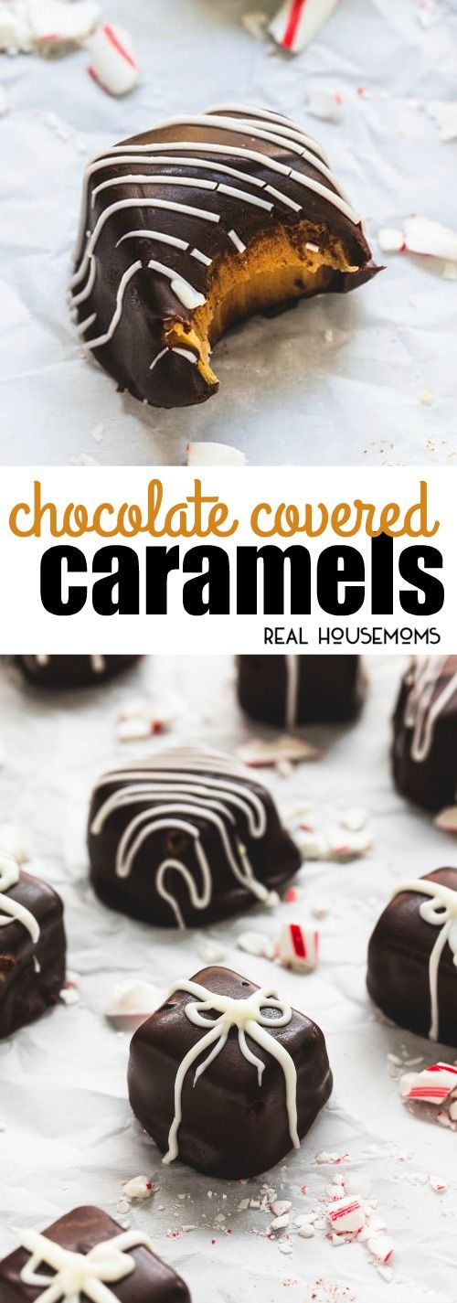 Easy homemade Chocolate Covered Caramels are a breeze to whip up and make the perfect food gift for neighbors and co-workers during the holidays!