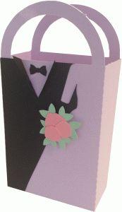 Silhouette Design Store - View Design #62908: bride & groom gift bag