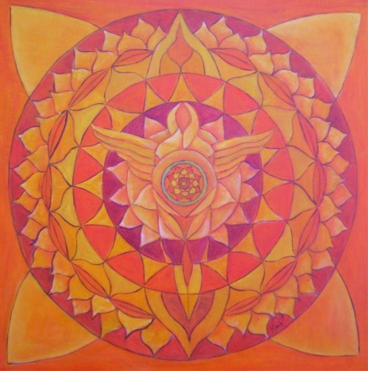 "Saatchi Art Artist Renate van Nijen; Painting, ""Angel of love mandala"" #art"