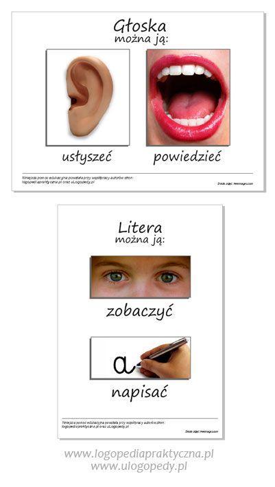 Podaj dalej: Głoska i litera. Pojęcia te mylą nie tylko dzieci, zdarza się, że czynią to także rodzice, a nawet nauczyciele. Jak w prosty sposób wytłumaczyć dziecku różnicę między głoską, a literą? Oto kilka propozycji. Obrazowanie Przygotujmy plansze edukacyjne, które w przyjazny sposób zobrazują dziecku pojęcie litery i głoski. GŁOSKA powinna kojarzyć się z głosem.