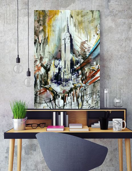"Discover «""Empire State of Art""», Exclusive Edition Canvas Print by Bianca  Paraschiv Art - From $59 - Curioos"