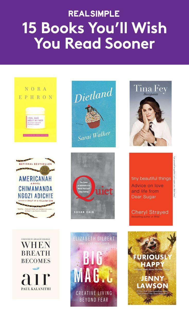15 Books You'll Wish You Read Sooner