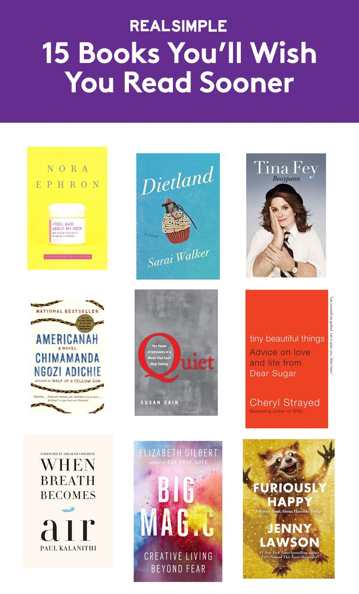 15 Books You'll Wish You Read Sooner | A great read can be transformative—and may even change the way you think about your life. These books, chosen by RS staffers, are so powerful, you'll want to read them again—and share them with your friends.