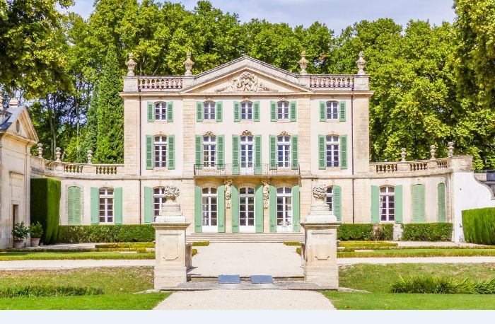 Chateau de Tourreau, built in 1612 by the knight Paul de Tourreau, was demolish and rebuilt in 1748 by one of his descendants, Francois Benezet, who just inherited a large sum of money. Is one of the most exquisite private property in the South of France. Sarrians, Vaucluse, Provence