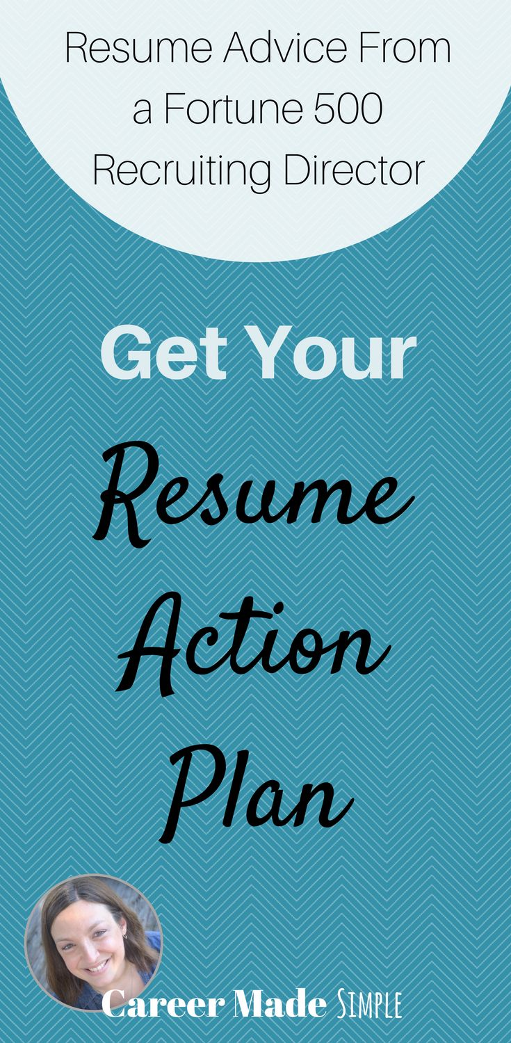 Get your resume action plan from a Fortune 500 Recruiting Director. #resumetips #resume #resumeadvice #resumereview