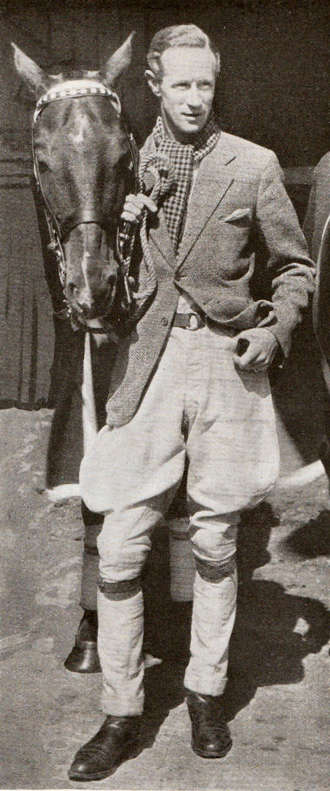 Leslie Howard and one of his polo ponies