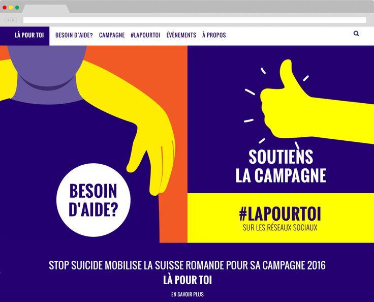 Campagne Là pour toi 2016 - Association Stop Suicide
