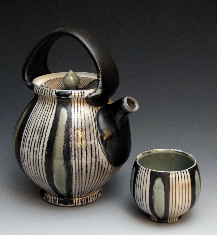 Laura Meaden Pottery  teapot and cup