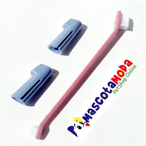 Cepillos de dientes para perros. http://www.mascotamoda.com/peluqueria-limpieza-y-cuidados/cepillos-peines-y-cortaunas/cepillos-de-dientes-en-promocion-3-unidades-detail