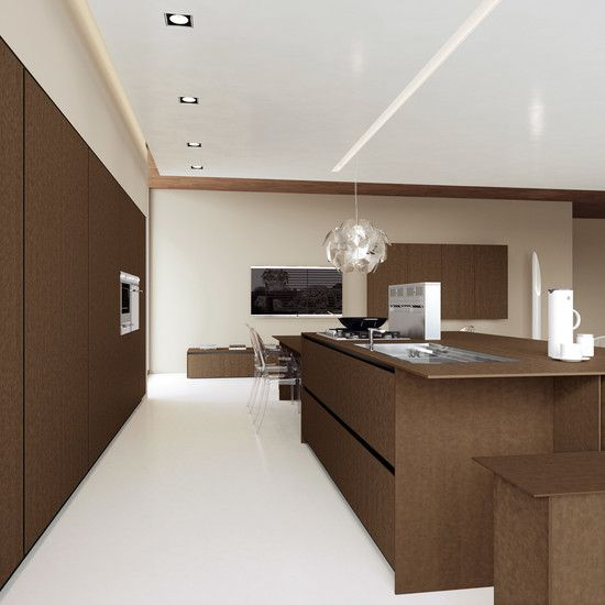 Wooden Kitchen Island Design Finished With Modern Kitchen Sink In Large Design Equipped Italian Kitchen Cabinets