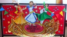 Art ,Craft ideas and bulletin boards for elementary schools: Another republic day board