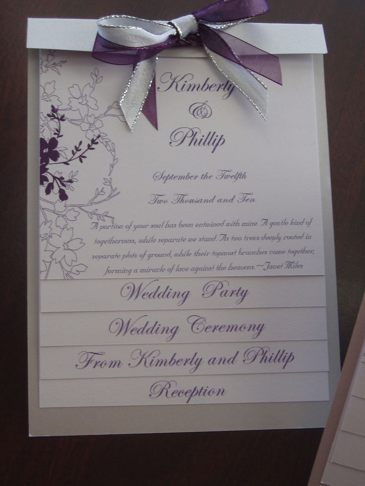 wedding ceremony wording samples%0A Layered Wedding Program Sample  This would be just about perfect
