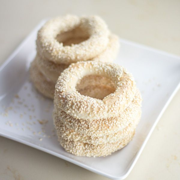 Greek Sesame Bread Rings, known as koulouri, are simple and delicious greek bread rings covered in sesame seeds and popular at breakfast time