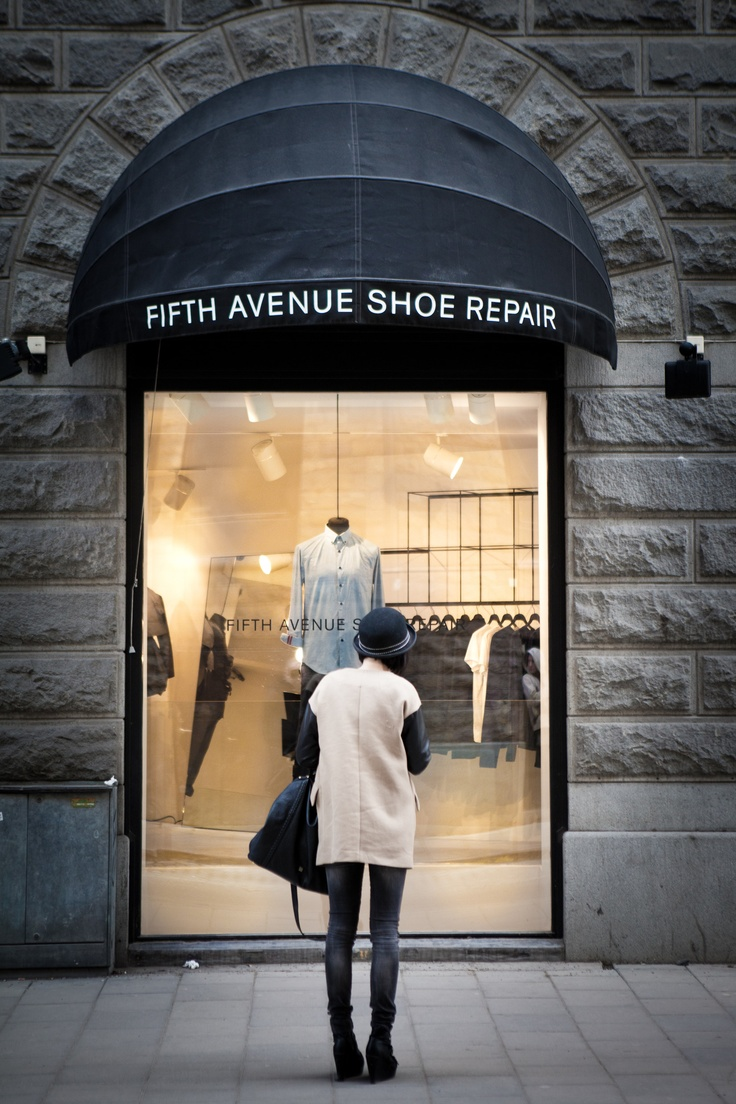 The Swedish fashion lable Fifth Avenue Shoe repair are well know for their minimalistic  clothing with a dramatic flair in the cut. Their store on Mäster Sauelsgatan 2, opened in 2009 and mirror the minimalism in the clothes with its sleek interior. Photo by Tuukka Ervasti