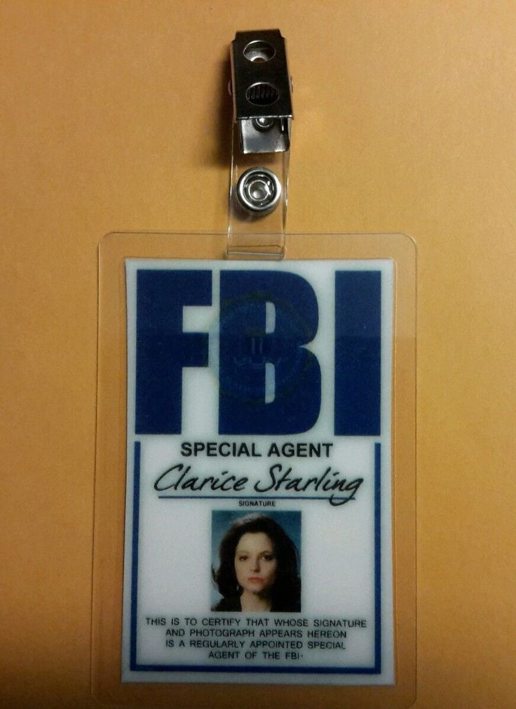Silence of The Lambs Clarice Starling's FBI ID Badge ...