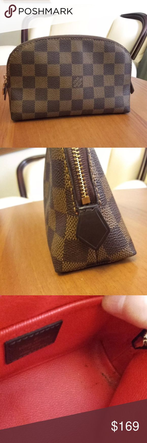 louis vuitton used bags. louis vuitton\u0027s damier cosmetic bag has been used but if u want to buy text vuitton bags r
