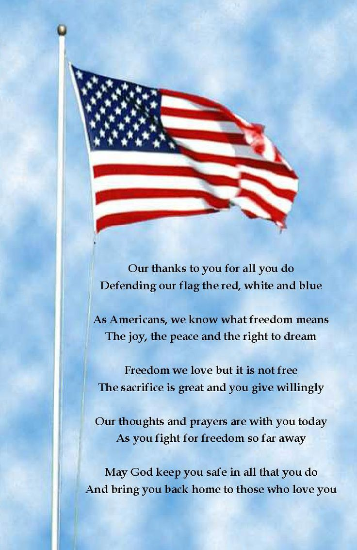 Patriotic poems and quotes send a deployed service member a july 4th thank you
