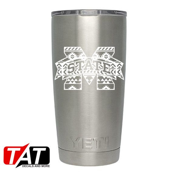 Aztec Mississippi State YETI Decal by TATDecalsAndMore on Etsy