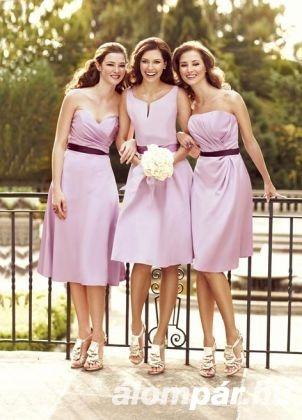 Halvány lila Impression Bridal koszorúslány ruhák 56