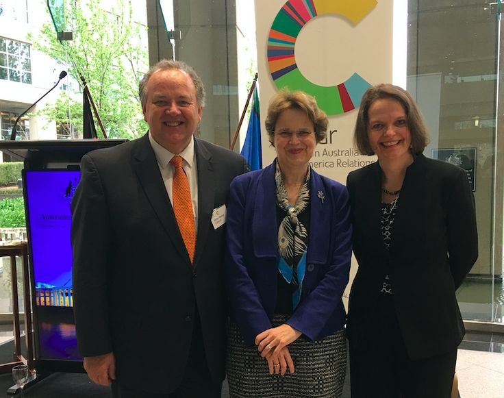 DFAT Secretary Frances Adamson with Gabriele Suder and Victor Perton