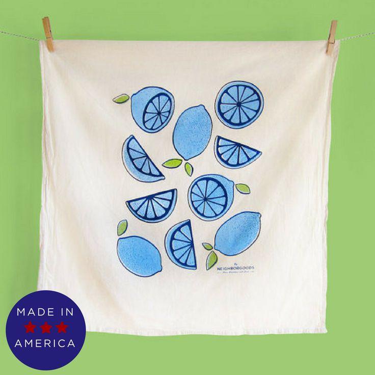 Blue Lemon/Lime Tea Towel