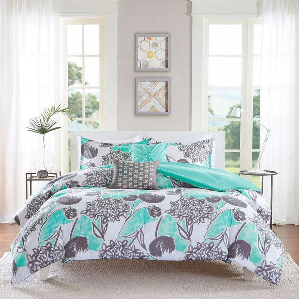 intelligent design lily comforter set 90 liked on polyvore featuring home bed - Queen Bed Comforter Sets