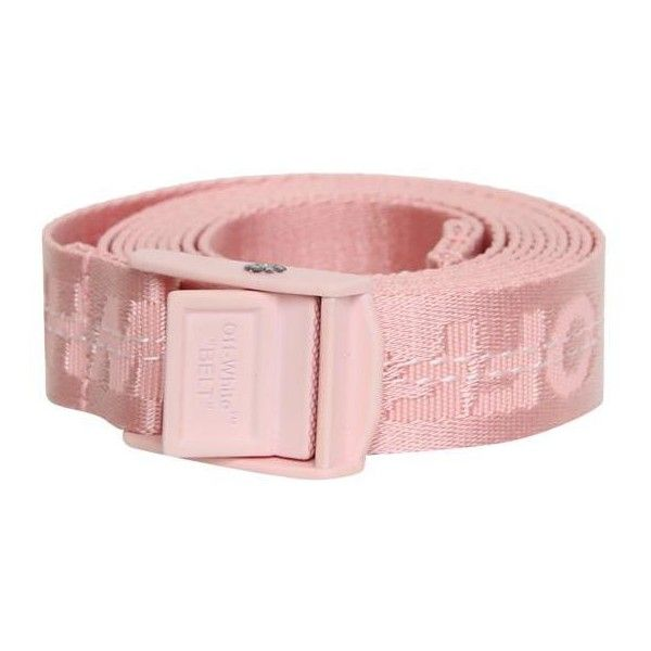 Off White Pink mini Industrial belt (€135) ❤ liked on Polyvore featuring accessories, belts, pink, summer belts, pink belt and off white belt
