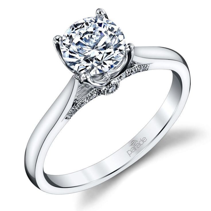 Solitaire Round Diamond Engagement Rings
