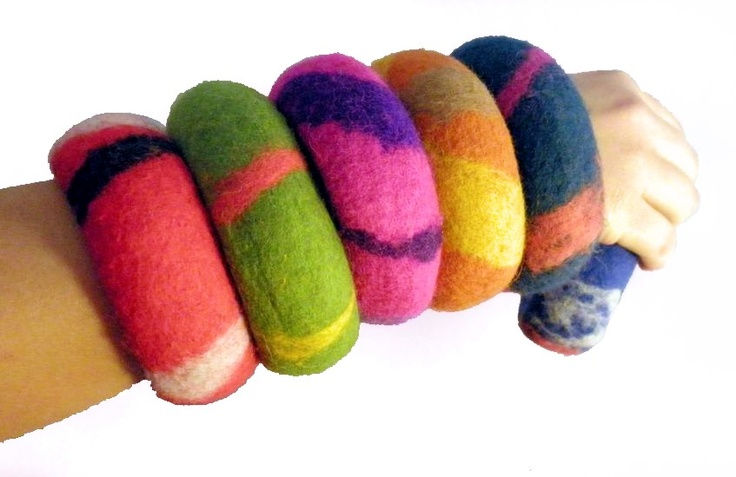 Bracelets en Feutre  Création tatiana    www.casames.com