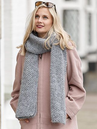 COSY SCARF from Winter Essential Knits A collection of 12 classic designs for women by Quail Studio. Designed to be an appealing collection where each design is wearable, and can be styled in different ways-completing your essential winter wardrobe | English Yarns http://englishyarns.co.uk/rowan-winter-essential-knits.html