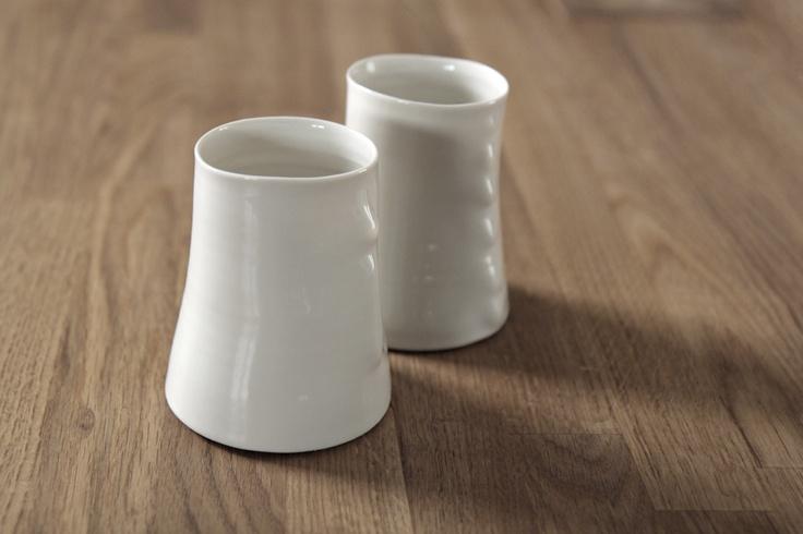 Aria porcelain glasses by Paola Paronetto
