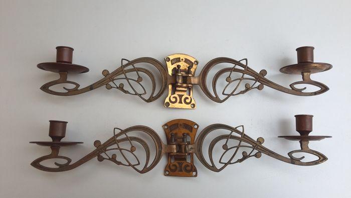 Catawiki, pagina di aste on line  Porta candele lampade da pianoforte Art Nouveau  https://aste.catawiki.it/lotsfrom/ilvecchiotarlo