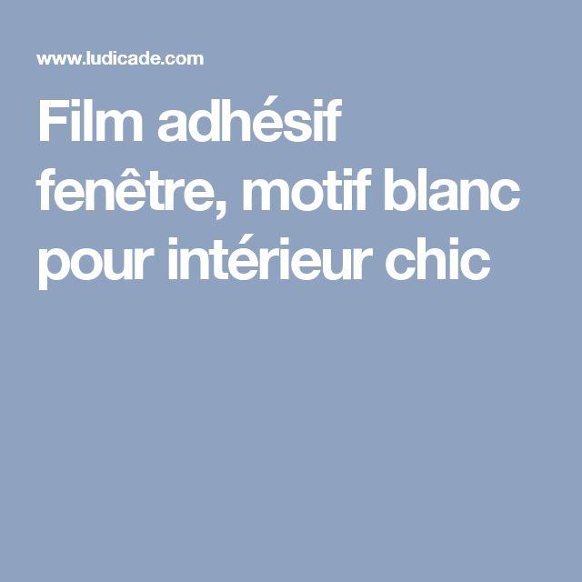 Film adhésif fenêtre, motif blanc pour intérieur chic
