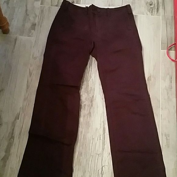 Anthropologie Paper Boy plum pants 98% cotton, 2% spandex plum colored pants with side and back pockets.  Flare at bottom.  In very good condition Anthropologie Pants Boot Cut & Flare