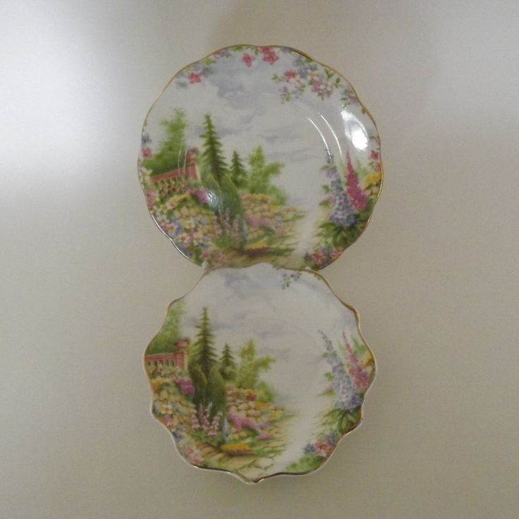 Royal Albert Kentish Rockery Trinket Dish and Small Plate, Gift for Mother, Gift for Woman, Cottage Chic, Olde English Style, Trinket Dish by VintageLakes on Etsy