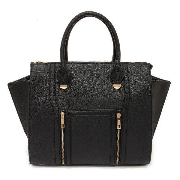 Wing-Woman Black Handbag (540 ZAR) ❤ liked on Polyvore featuring bags, handbags, bolsas, black, yoki handbags, purse, black crossbody bag, handle handbags and black purse
