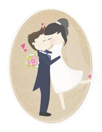 Ilustración boda personalizada