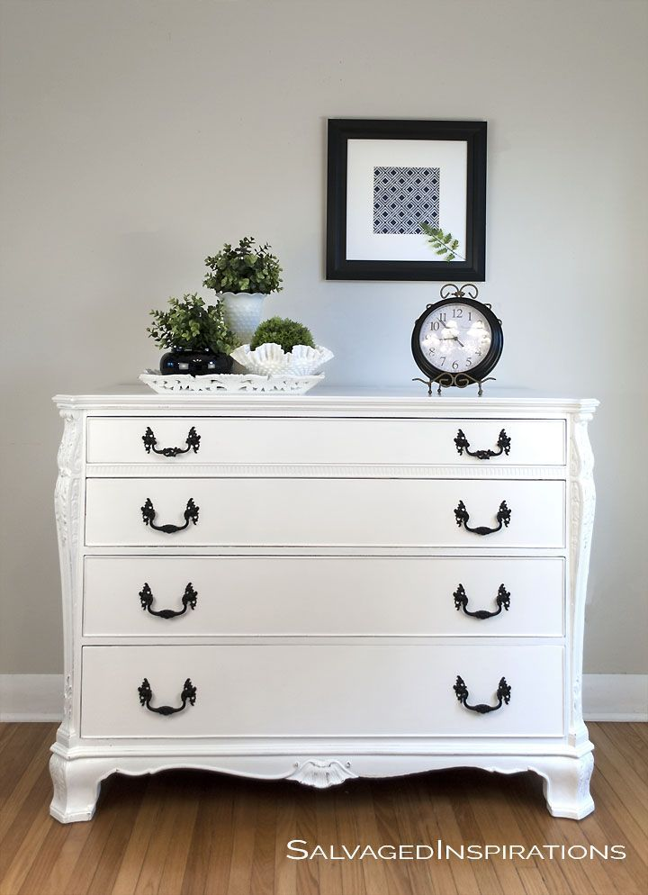 Pure White Chalk Paint Buffet Makeover White Chalk Paint Furniture Annie Sloan Painted Furniture Bedroom Furniture Makeover
