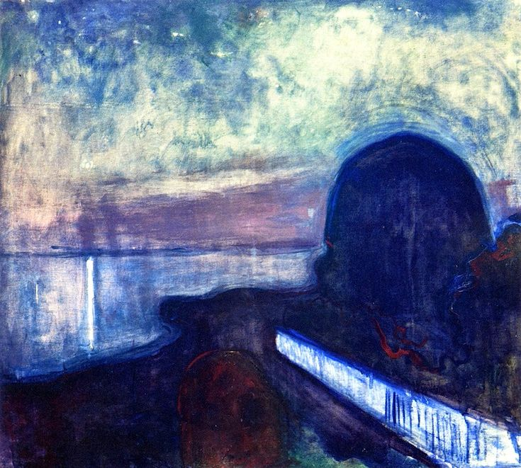 Starry Night  Edvard Munch - 1893