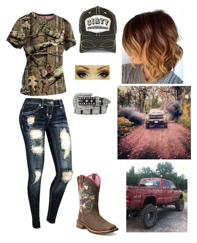 """A little mud never hurt anybody"" by country-princess-7 ❤ liked on Polyvore featuring Ariat and Nocona"