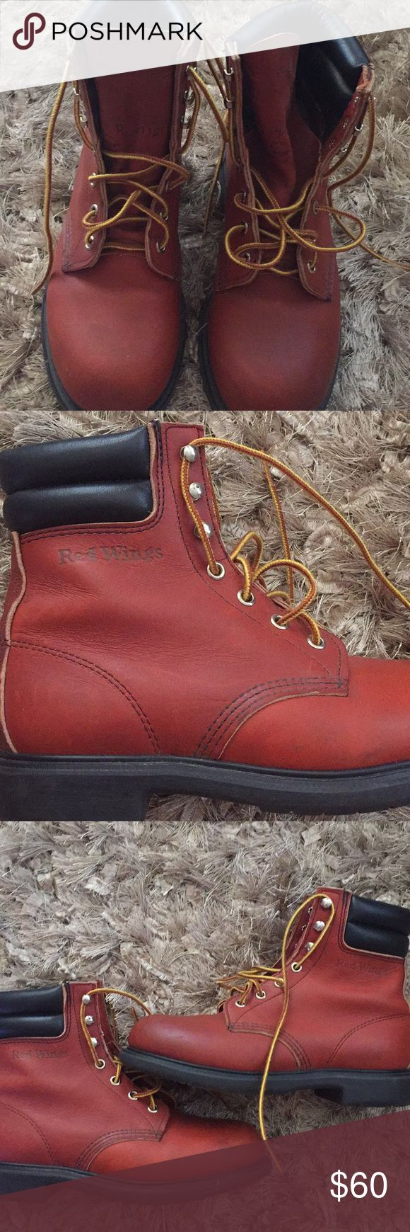 Red wing boots Red wing Shoes oil resisting worn only once Red Wing Shoes Shoes Boots