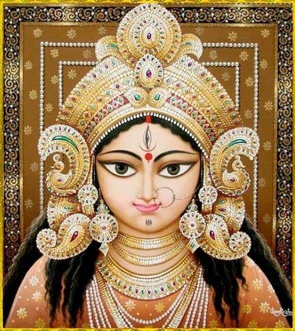 Spiritual Photos: Painting of Maa Durga